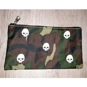 Camo Skulls Makeup Bag Zipper Pouch Pencil Case